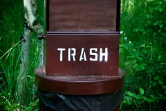 Trashing Your Subject (The Good Brat) Tags: statepark park trash us colorado can bin waste receptacle goldengatecanyon