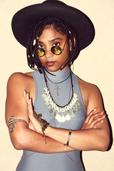 Robyn (cityboycza89) Tags: woman streets beautiful hat sunglasses fashion female photography photo amazing model arms modeling background fame makeup robyn lipstick braids leotard jumpsuit tumblr