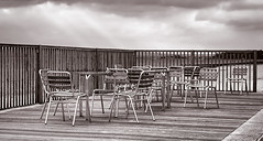 DSC00756  A7 (Seaton Carew.) Tags: wood sky steel decking notakers ontheprom fabview sony50mmprime seatonshot westcliffeprom
