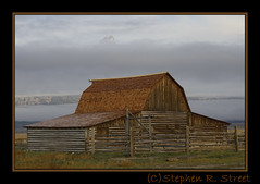 Moultan Barn with clouds (grizzman86) Tags: grandtetonnationalpark moultonbarn
