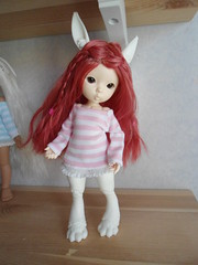 More sewing for the bunny girl (~Akara~) Tags: bunny ball real doll hand handmade clothes made fairy land bjd fl fairyland fee jointed rlf realfee