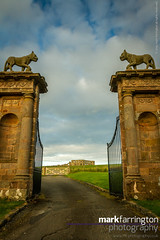 Downhill Demesne 'Lion Gate' (Mark R Farrington) Tags: uk sculpture building love architecture canon buildings temple photography eos countryside sandstone europe unitedkingdom britain gates coastal 7d lions northernireland folley curved castlerock ulster countyantrim antrim portlandstone mussendentemple downhilldemesne desc2012