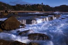 Blue Hour Wave (kelvinshutter) Tags: seascape canon wave australia 6d turimetta