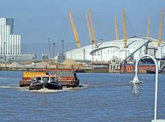 Trash Talk. (delticfan) Tags: riverthames milleniumdome barges londonrubbish mvrecovery