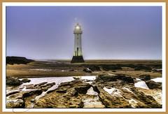 The Lighthouse (Kev Walker ¦ 8 Million Views..Thank You) Tags: sea sky lighthouse mist beach fog architecture canon 1855mm hdr wallasey newbrighton merseyside 2015 fortperchrock newbrightonlighthouse kevinwalker canon1100d