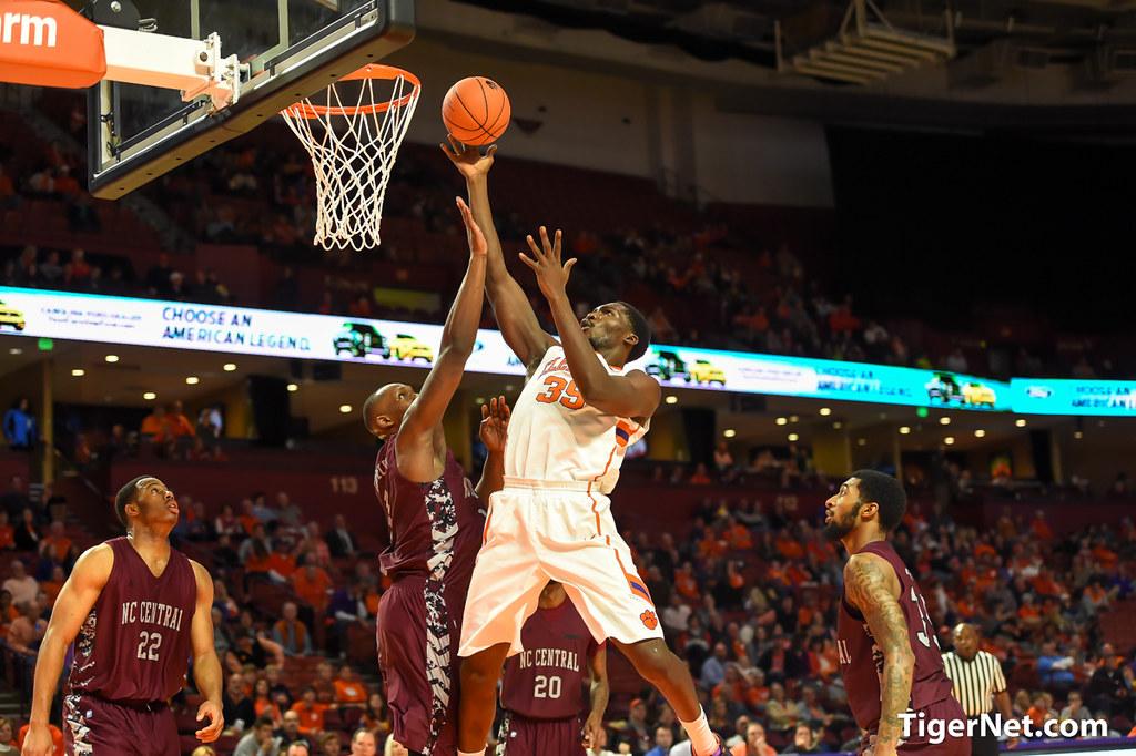 Clemson Photos: Landry  Nnoko, 2015, Basketball