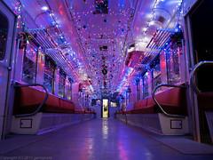 Illumination train of Kominato-Railways (gemapozo) Tags: japan night pentax jp chiba 日本 千葉県 小湊鉄道 kominatorailway kominatotetsudo 夷隅郡 645z smcpentaxfa64535mmf35alif illuminationtrain イルミネーション列車