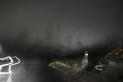 365-30 (• estatik •) Tags: county street new trees motion field lines rain sign fog 30 night corner high long exposure industrial december glow power 14 towers nj royal dec stop jersey 365 roads tension nocturne rd icm colony 2015 hunterdon 36530 comples intentionalcameramovement flamington 141215 121415