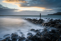 Kimmeridge 2 (Stu Meech) Tags: sunset sea water statue nikon rocks long exposure stu little hard lee dorset d750 antony grad gormley kimmeridge stopper 1635 meech 06nd