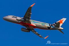 Jetstar A320 YBBN (Nathen Sieben) Tags: airport athletics little brisbane airbus jetstar a320 brisbaneairport bne ybbn