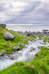 Stream from Utdalsvatnet, Lofoten (kurt.kristiansen) Tags: summer stream seascapes sommer hike lofoten ferietur singhrayvarind gradertgrfilter hikebetweenunstadandeggum