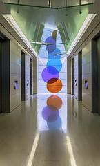 Tri-Colour Reflections (devil=inside) Tags: openhouse london broadgate tower colours circles reflections architecutre lifts elevators handphotography sony a77 lights