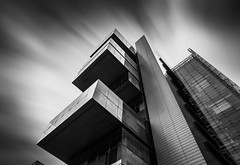 Landmark (manphibian) Tags: civil justice centre spinningfields manchester architecture building art skyscraper long exposure sony sonya7 zeiss loxia 21 cous mono monochrome blackandwhite black white mood weather winter