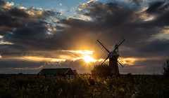 St Benets Mill (jammo s) Tags: stbenetsdrainagemill norfolk norfolkbroads windmill sky sunset mill sun autumn dusk river canoneos6d canonef24105mmf4lusm