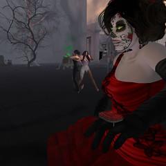 Lady JJ (Dominion Femdom) Tags: dominion femdom secondlife anniversary halloween party dance music