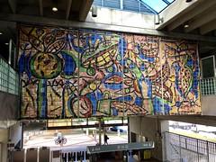Art Santa Clara Metrorail Station (Phillip Pessar) Tags: public art commuter mass transportation metrorail miami santa clara station