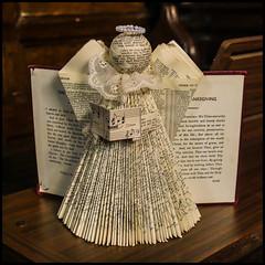 P1110035-1 - Hymn Book Angel (dangle earrings) Tags: hymnbook angel papercraft dangleearings panasonicdmcgx8
