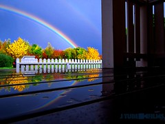 Autumn rainbow (J Tube-Films) Tags: rainbow nature mirrow rain sun blue fal autumn