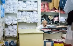 DOHA 2016-4 (earthlingrick) Tags: doha qatar arabic man work clothes shop market souk mustache travel