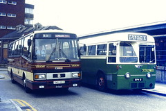 Slide 079-15 (Steve Guess) Tags: reading berkshire england gb uk bus bpv8 ipswich aec regal iv goldline transport leyland tiger plaxton paramount coach rmo201y