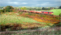 Autumn Freight (Welsh Gold) Tags: 60054 robestone westerleigh murco oil tanks train st georges vale glamorgan main line autumn colours southwales