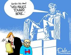 1116 malice toward none cartoon (DSL art and photos) Tags: editorialcartoon donlee donaldtrump election 2016 presidential vote abelincoln malicetowardnone reconciliation