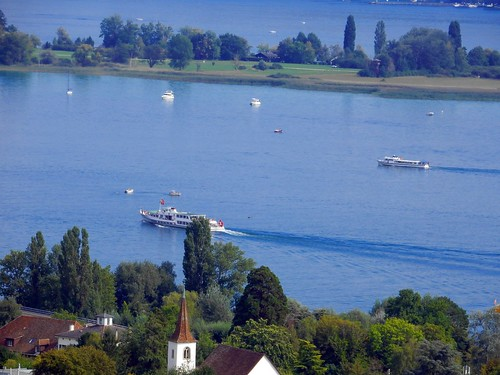 La Neuveville, des bateaux vers l'île St.Pierre, tele