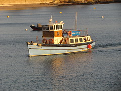 Ferry 🚢 (daveandlyn1) Tags: ferry boat sunsetreflection water sea harbour stmawes cornwall sx30is powershot canon bridgecamera