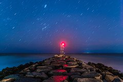 At the End (Evan's Life Through The Lens) Tags: camera sony a7rii lens glass canon 2470mm f28 wide zoom beautiful long exposure vibrant color blue orange star trails sky night light dark cold autumn mist haze glow water ocean 2016 alone drive town