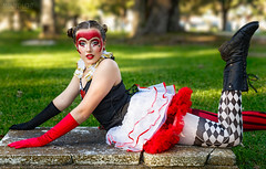 Queen of Hearts (Cardwell Photo LLC | Thanks for 2 Million Views!) Tags: afternoon autumn beautiful beauty black bokeh boots brazoriacounty cemetery cosplay costume fall fashion girl gloves goldenhour greaterhouston green halloween lauramendoza lying meetup model oldcolumbiacemetary outdoor ppl people plants queenofhearts red shade sheridanmears teen texas tomb trees tutu westcolumbia white grass horizontal unitedstates
