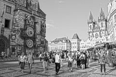 Praga (U2iano) Tags: praga czech checa plaza staromestské námestí reloj astronomico astronomic clock prague