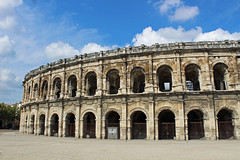 Arnes - The Ancient Roman Amphitheater in Nimes (big_jeff_leo) Tags: nimes france roman temple arena building stone ancient architecture city facade fountain french empire old pilar column