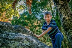 Liam on Rock 2 (sadlersr) Tags: gardenofthegods shawneenationalforest fall2016 nature outdoors trees rocks geology sky lightroom liam 2016 october2016