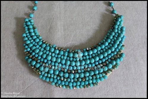 """Maxi-colar """"Simple Turquoise"""" (colecção Outono 2016)"""