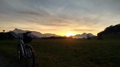 sunset (twinni) Tags: mw1504 30112016 sunset winter salzburg austria österreich beachcruiser spiegel bumm secula bike fahrrad