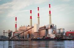 Smokestacks (S1NCE_ALWAYS) Tags: industrial landscape rooseveltisland nyc newyorkcity 35mm analog film ektar100 minoltasrt201