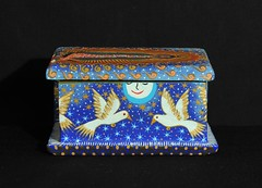 Mexican Wooden Painted Box (Teyacapan) Tags: caja box mexican oaxaca crafts artesanias painting folkart