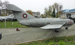 (28 Red) Mikoyan-Gurevich Mig-17F (NATO-Fresco) Bulgarian Air Force (David Russell UK) Tags: 28 red mikoyan gurevich mikoyangurevich mig mig17 mig17f 17f military fighter interceptor aircraft aeroplane airplane plane flying aviation cold war bulgarian air force sofia city bulgaria national museum history preserved fresco