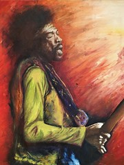 Jimi Hendrix by Moe Ingrid (glade.davy) Tags: hendrix jimi jimihendrix guitare
