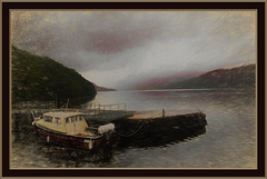 Loch Lomond (williamwalton001) Tags: mountains trees texture boat quay loch lochlomond framed fineart forest water weather scotland dockbay