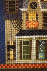 November 1 2016, Tuesday (interchangeableparts) Tags: projectworkbench mfboo halloweenstitching kirkbradley hauntedhouse needlepoint