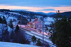 Winter sunset in Braneci, Zlatibor mountain (Mladja_IC431) Tags: branesci zlatibor uzice nature wnter snow sunset sky serbia railpassion railway beogradbar cold