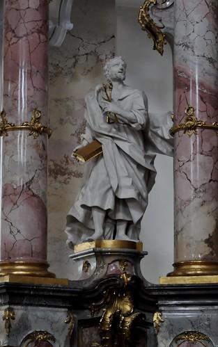Staffelstein (Alemania). Basilica Vierzehnheiligen. Altar lateral lado epístola. San pedro