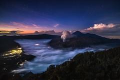 Sleepy Dreams (Trent's Pics) Tags: sleepydreams sleepy dreams crater night stars sky clouds outdoor mountbromo bromo volcano seaofclouds eastjava java indonesia landscape sunrise dawn