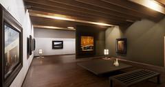 Modern Japanese exhibition space(和風ギャラリー) (christinayan01) Tags: ue4 unreal engine 4 cg japanese room modern interior