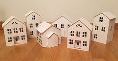 3. Found at Michael's Craft Store (Foxy Belle) Tags: unfinished paper house putz glitter craft make store buy