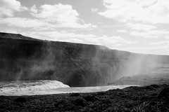 KLIS4392_S (Konrad Lembcke) Tags: gullfoss iceland island abstract minimal landscape black white fuji x monochrome xe 2 waterfall travel