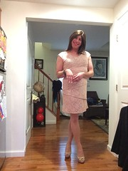 crossed (JenniferB!) Tags: crossdress crossdresser crossdressed crossdressing transgender tgurl tgirl trans gurl girly girlish pantyhose makeup ladylike enfemme femme heels legs stockings stilleto lipstick ootd