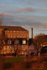 West End sunset (Taysider64) Tags: dundee westend magdalengreen bandstand jutemill seafieldworks chimney balticworks evening autumn