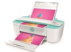 HP DeskJet Ink Advantage 3785 All-in-One, 3700 Series, Left facing, Open, with input & output (I am so sorry :() Tags: aio allinone cle colorprinter consumer copy emea green greenaccentcolor homeprint hpdeskjetprinter hpscrollscan print scan scrollfed scrollfeed wireless wl